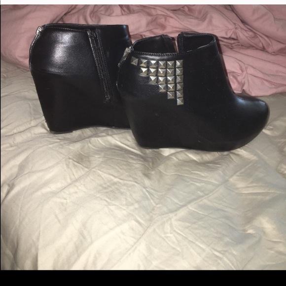 torrid Shoes - Studded wedge booties